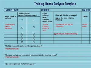 Get training needs analysis template exceltemple for Learner analysis template