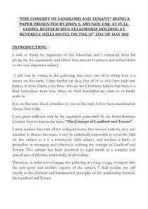 concept  landlord  tenant