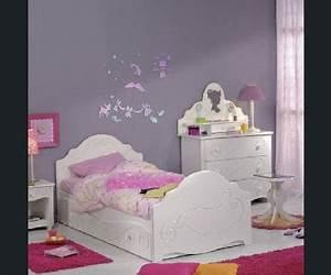 peinture chambre petite fille rose et violet With couleur chambre petite fille
