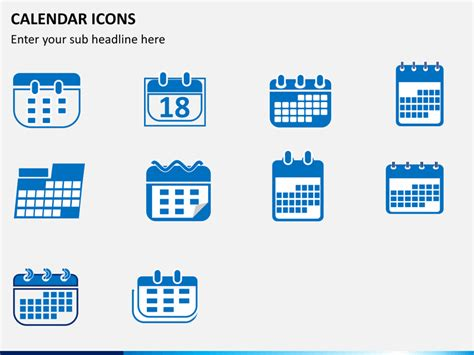 calendar icons powerpoint sketchbubble