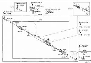 2003 Toyota Echo Rack And Pinion  Steering  Power  Gear