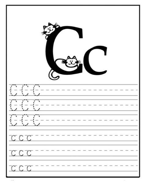 Free Printable Letter C Worksheets For Kindergarten & Preschool