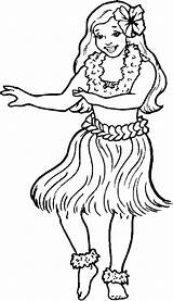 Hula Coloring Pages Clipart Hawaiian Dancer Little Printable Dancers Template Fun2draw Dance Clip Hoop Sketch Timeless Miracle Sky Cliparts Clipground sketch template