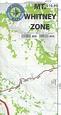 Mt. Whitney Zone Trail Map by Tom Harrison