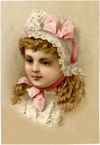 Fairy Garden Designs Vintage Girl With Bonnet Image The Graphics Fairy
