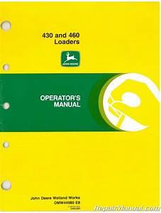 Used John Deere 430 460 Loader Operators Manual