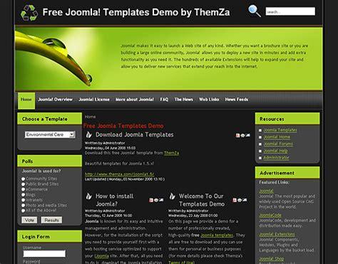 joomla templates free environmental care free joomla template from themza