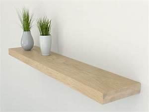 Oak, Floating, Shelf