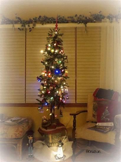 Tree Christmas Skinny Tall Trees Decorations Grandma