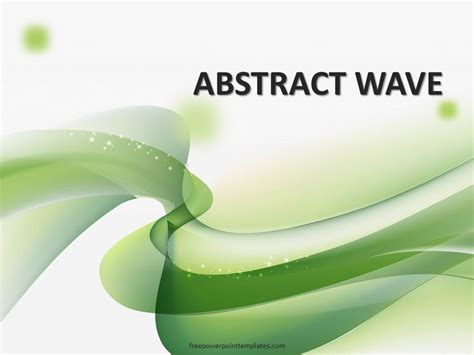 green wavy powerpoint template
