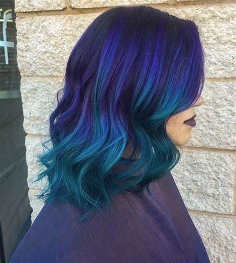 25 Amazing Blue And Purple Hair Looks Balayage Short