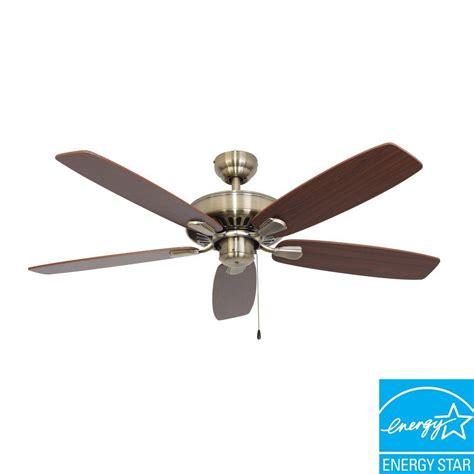 energy efficient ceiling fans sahara fans charleston 52 in aged brass energy star