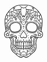Coloring Skull Bones Popular Sugar sketch template
