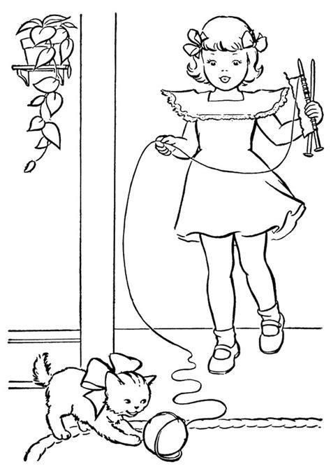disegni bambina da stare e colorare disegni di gatti da colorare e stare gratis bambina