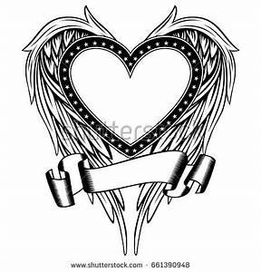 Tribal Hearts Wings Stock snímky, snímky pro členy zdarma ...