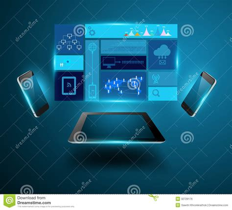 vector modern technology business concept mobile p royalty