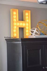 50 cool and crafty diy letter and word signs With lighted wooden letters