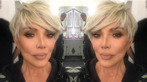 kris jenners blonde pixie   hair makeover