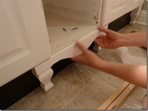 how to make stock cabinets look custom kitchen design ideas diy installation of furniture legs