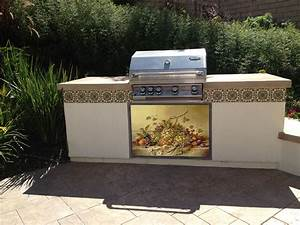 Outdoor kiln fired tile murals that will not fade and made for Outdoor kitchen tile