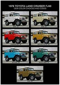 Image Result For Toyota Fj40 Color Chart