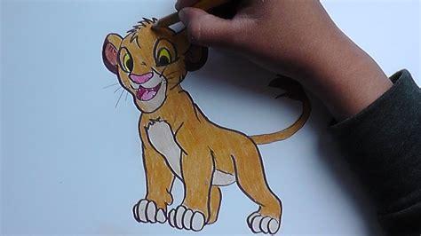 dibujando  pintando  simba rey leon drawing  painting simba youtube