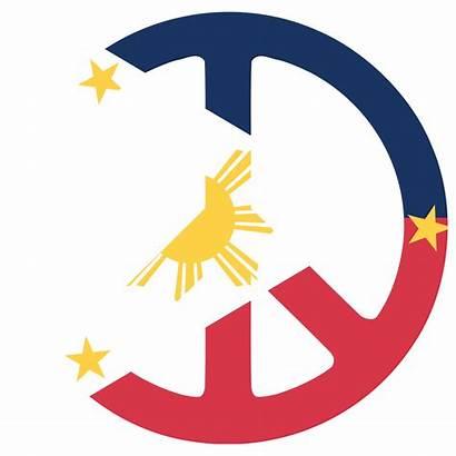 Philippine Philippines Clipart Flag Symbol Peace Sun