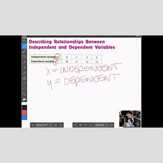 Independent And Dependent Variables In Tables And Graphs Youtube
