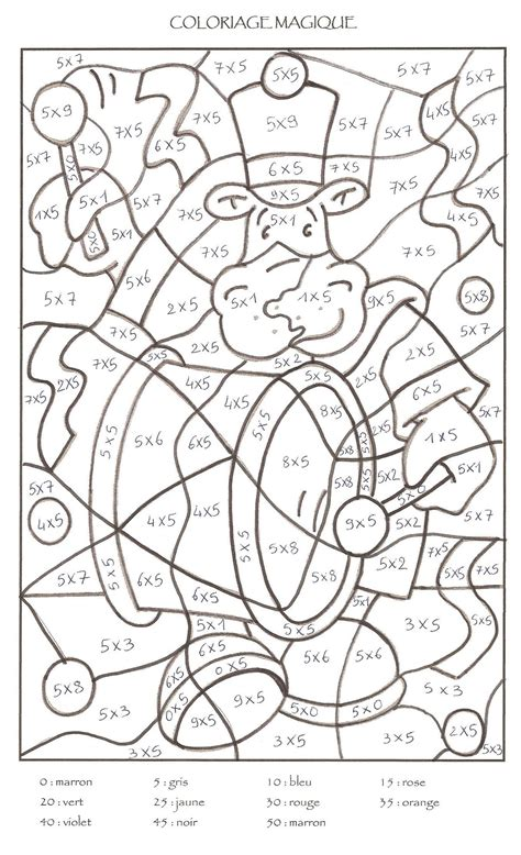 coloriage magique tables de multiplication cm1 coloriage magique cm1 a imprimer