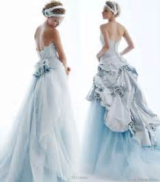 blue dresses for wedding coloured wedding dresses fantastical wedding stylings
