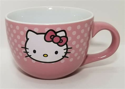 Hello kitty coffee mug allow for many stylish variations and can help express one's personality as well as to advertise particular logos. Hello Kitty 24 oz Ceramic Coffee Soup Mug | eBay