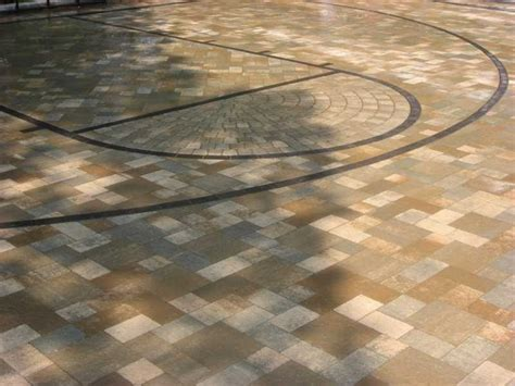 midwest hardscape  romanstone basketball court