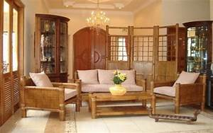 contemporary classic living room interior design ideas With bamboo furniture in living room
