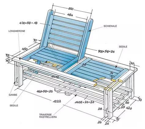 costruire una panchina in legno disegno progettuale per costruire una panchina di legno
