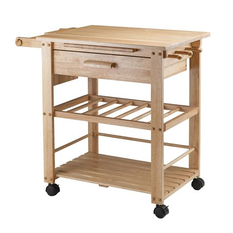 wood kitchen island cart winsome wood 83644 finland kitchen cart atg stores