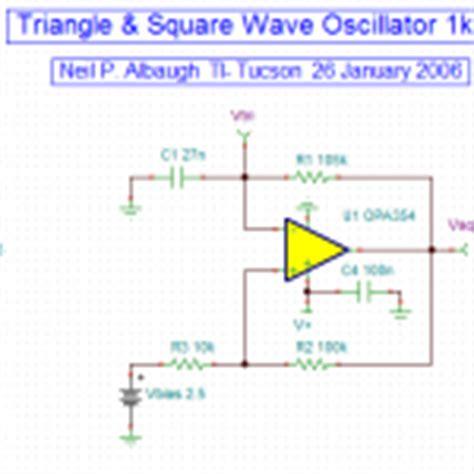 Khz Triangle Square Wave Oscillator Youspice