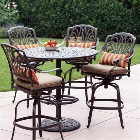 tall outdoor bistro table set furniture counter height outdoor dining sets polywood