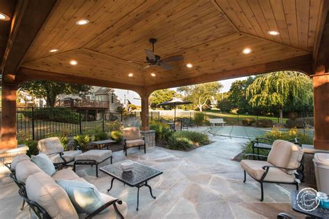 poolside pavillion farmside landscape design