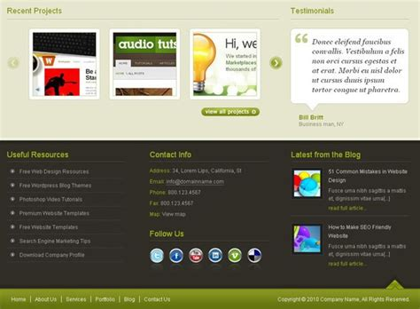 website footer design 40 creative website footer design exles