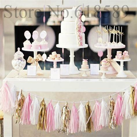 14 inch tissue paper tassel garland diy wedding decoration