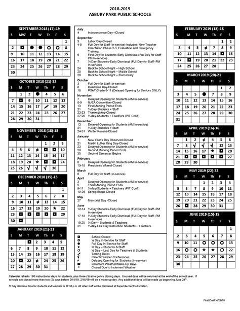 asbury park school district calendar publicholidaysus