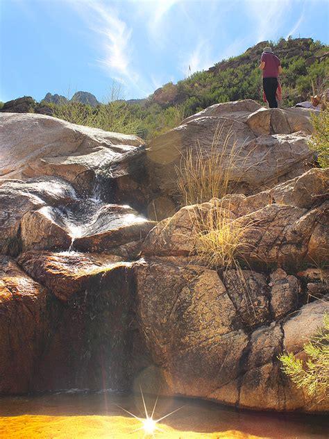 romero hiking trail splash  falls  tucson