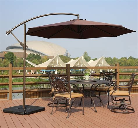cantilever patio umbrellas top 10 best offset patio umbrellas in 2018 toptenthebest