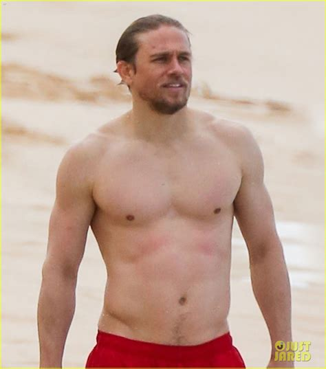 charliehunnam swimsuit charlie hunnam garrett hedlund go shirtless while