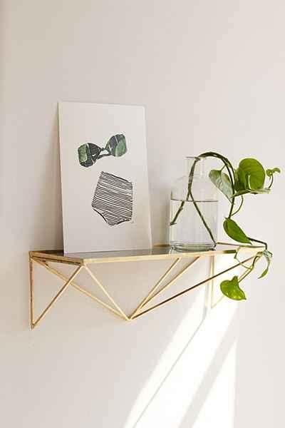 gold wall shelf gold shelf products bookmarks design inspiration and