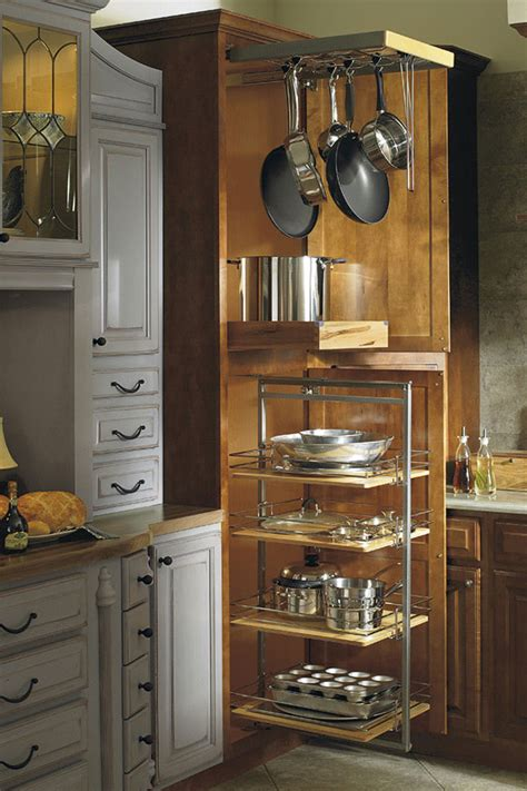 Organizing Kitchen Pantry Ideas - thomasville organization utility storage with pantry pullout and pots pans rack