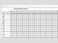 Workout Schedule Template Excel Excel Workout Routine