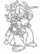 Coloring Hero Super Squad Assembled Netart sketch template