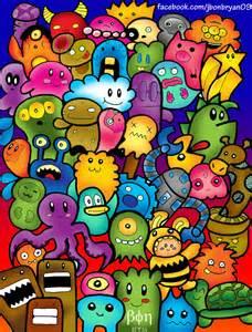 Cute Doodle Art Colored