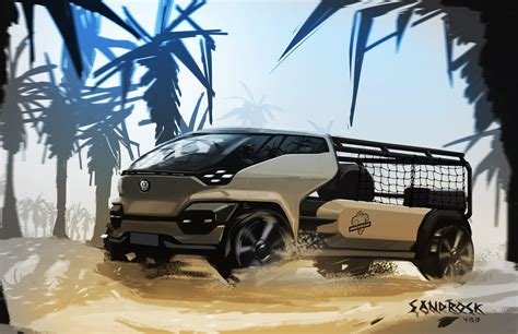 Volkswagen Type 10 Pick Up By Josh Sandrock, Usa